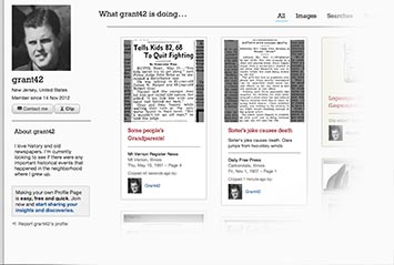 Profile page on The Tennessean Archive
